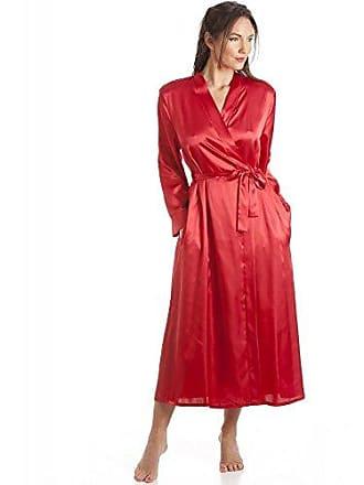 ff5a2933b6cf44 Camille Damen Morgenmantel - Luxuriös aus Satin - Rot 42/44