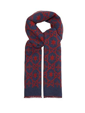 f6e54505515 Gucci Écharpe en laine mélangée à logo GG intarsia