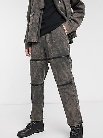 Collusion Verwaschene Hose mit Reißverschlüssen-Grau