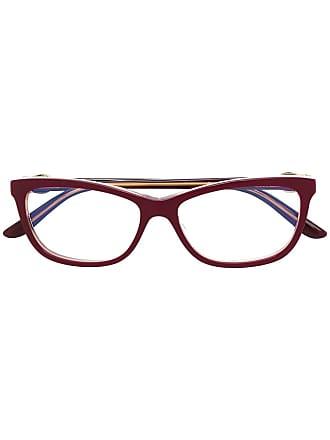 Cartier Armação de óculos quadrada banhada a ouro - Vermelho