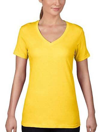 188ad3f4 Anvil 392 - T-shirt - Uni - Col V - Manches Courtes - Femme
