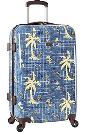 44561c64b Tommy Bahama Carry On Hardside Luggage Spinner Suitcase, Navy Map Print