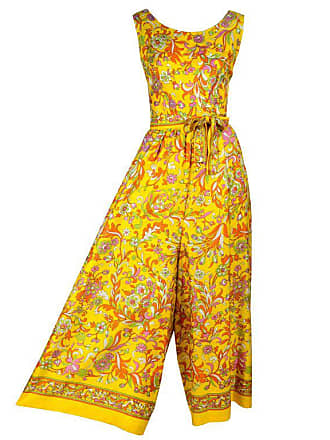 56ac32fd278 1stdibs 1970s Sea Isle Fashions Vintage Orange Pink   Yellow Palazzo Pant  Jumpsuit