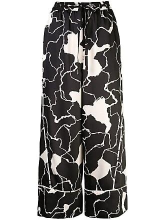 Yigal AzrouËl Ocean Crest printed trousers - Black