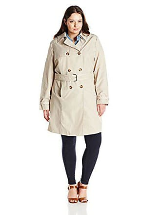46efeb10c098 T Tahari Womens Plus-Size Laurie Double Breasted Trench Coat with Lace  Detail, Sand. USD $23.98