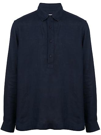 Orlebar Brown Camisa mangas longas de linho - Azul