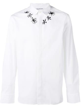 Neil Barrett Camisa com estampa de flores - Branco