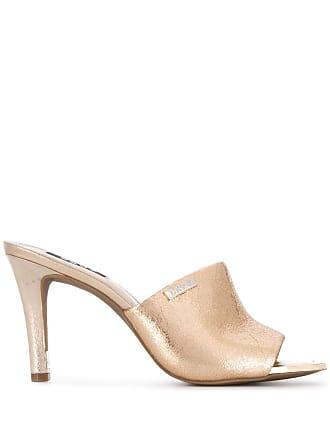 DKNY Bronx square toe mules - Gold