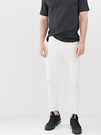 Bershka Besonders enge Jeans in Weiß