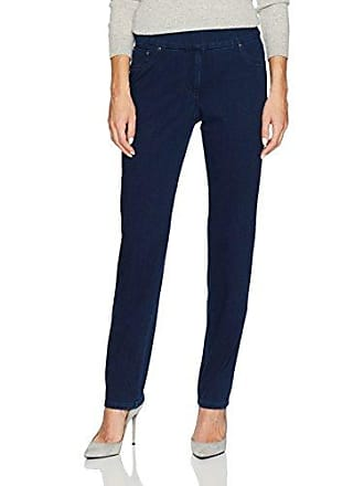 Ruby Rd. Womens Pull-on Knitted Indigo Twill Pant, 16