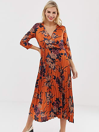 a986dee4e8a Liquorish floral wrap front midi dress with pleated skirt - Multi