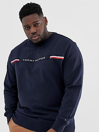 d18059829eac Tommy Hilfiger Big   Tall sweatshirt with chest stripe logo in navy