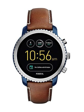 Zales Fossil Q Explorist Strap Gen 3 Smart Watch with Black Dial (Model: Ftw4004)