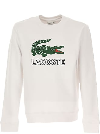 Lacoste Sweatshirt for Men On Sale, White, Cotton, 2017, L M S