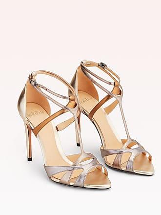 Alexandre Birman Anitta 100 Sandal - 35.5 Graphite Metallic Leather
