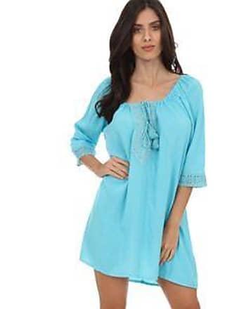 Lola Swimwear Vestido con Diseño de Borlas a Tono en Superior<br>Azul