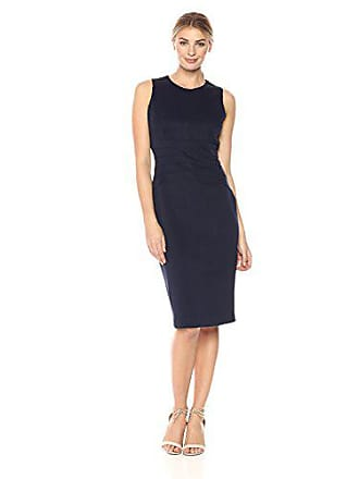 Ivanka Trump Womens Sleeveless Sheath Dress, Navy, 4