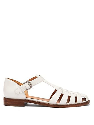 bdf57a361bb1 Churchs Kelsey Cut Out Leather Sandals - Womens - White