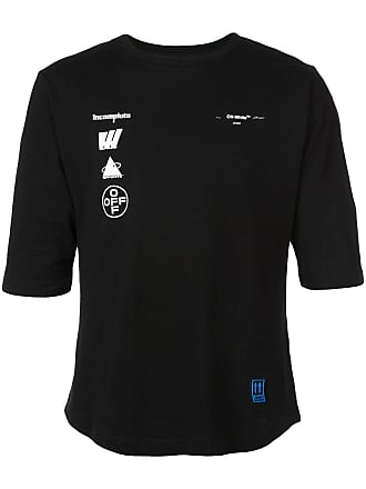 Off-white Camiseta Mariana de Silva slim - Preto