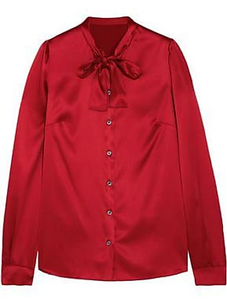 f96c2a1c5f686 Dolce   Gabbana Dolce   Gabbana Woman Pussy-bow Silk-blend Satin Blouse Red