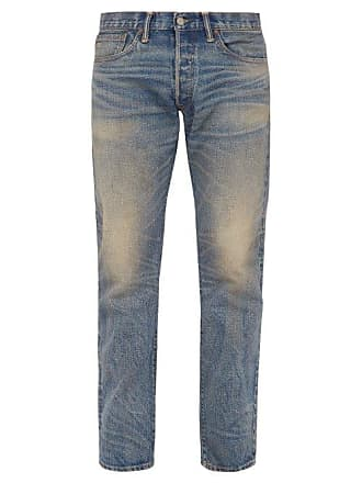 Ralph Lauren Rrl - Straight Leg Stonewash Jeans - Mens - Light Blue