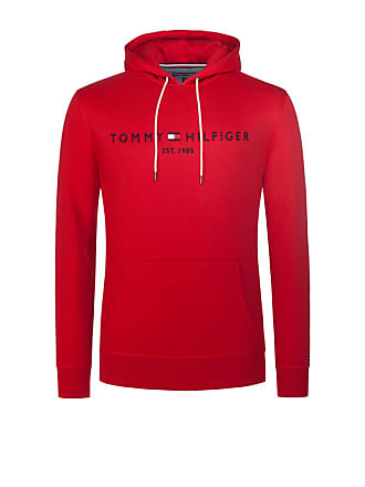 47d22fbe7288 Tommy Hilfiger Übergröße   Tommy Hilfiger, Hoody mit Logo-Stickerei in Rot  für Herren