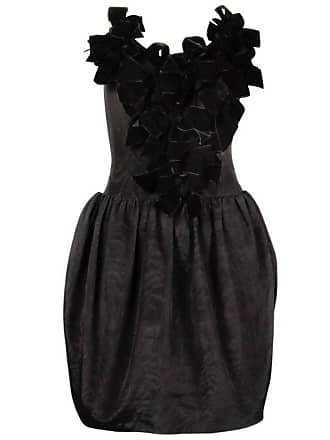 ba171bd9c8 Lanvin Vintage Lanvin 1980s Black Velvet Bows Strapless Cocktail Dress
