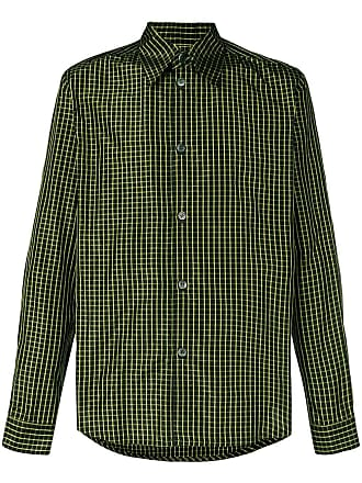 Namacheko Camisa quadriculada de seda - Verde