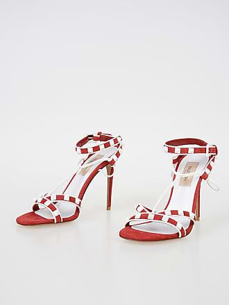 61e2ec2ada5a Valentino 12 cm GARAVANI Suede ROCKSTUD Sandals size 35