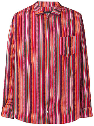 Paura Camisa com listra lateral bordada - Roxo