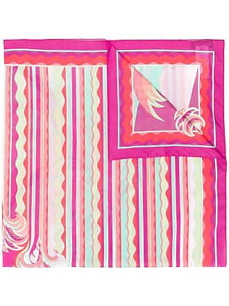 Emilio Pucci Echarpe com listras onduladas - Rosa