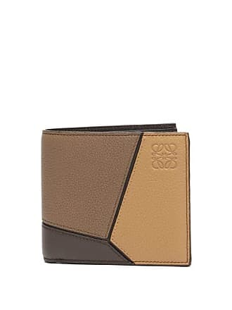 Loewe Puzzle Tri Colour Leather Billfold Wallet - Mens - Brown