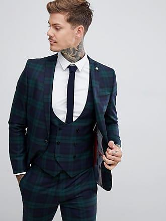 Twisted Tailor Ginger - Giacca da abito super skinny verde a quadri