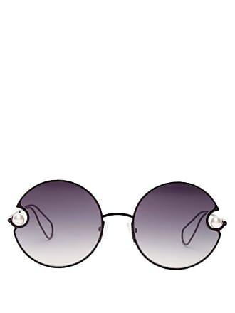 Christopher Kane Lunettes de soleil rondes à ornements façon perle 7a09753fa829