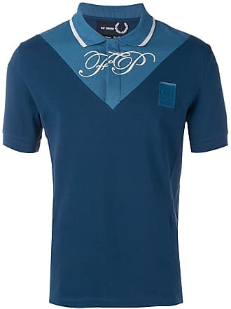 Fred Perry Camisa polo bicolor - Azul