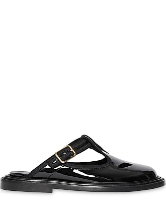Burberry Patent Leather T-bar Mules - Preto