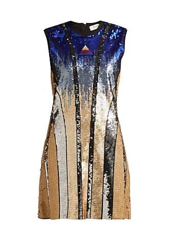 56ddd94c39d467 Sportmax Ghiera Sequin Embellished Mini Dress - Womens - Blue Multi