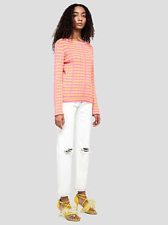 Msgm denim pants with contrast seams