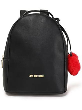 d0feac2c6f Love Moschino Love Moschino Woman Pompom-embellished Faux Leather Backpack  Black Size