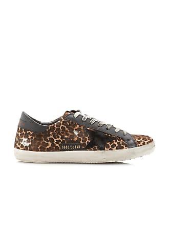 Golden Goose Superstar Leopard-Print Low-Top Leather Sneakers