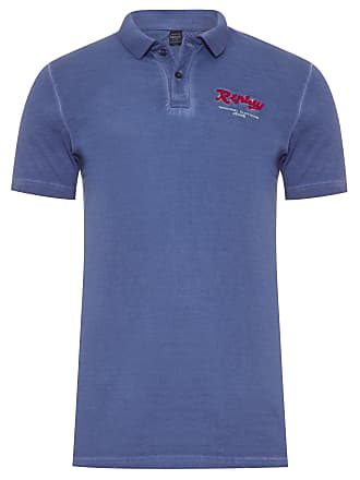 Replay POLO MASCULINA REPLAY ORIGINAL CLOTHING - AZUL