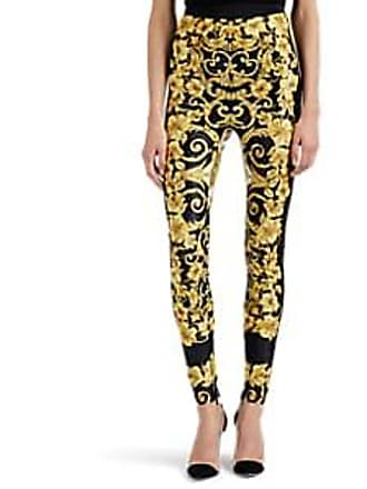 d06b5c9fa37f45 Versace Womens Hibiscus-Print High-Waist Leggings Size 38 IT