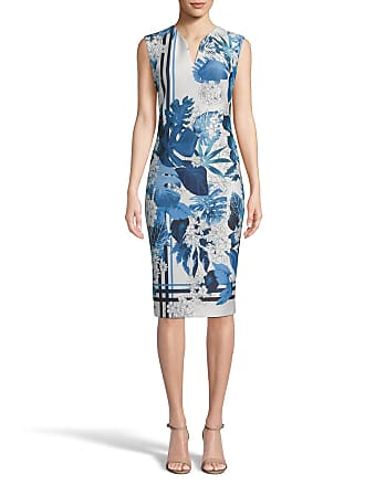 5twelve Floral V-Neck Sleeveless Scuba Sheath Dress