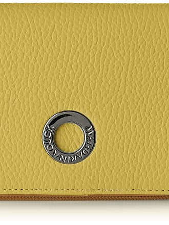 Mandarina Duck Mellow Leather Portafoglio Womens Wallet, Yellow (Starfruit), 3x10x14 Centimeters (W x H x L)