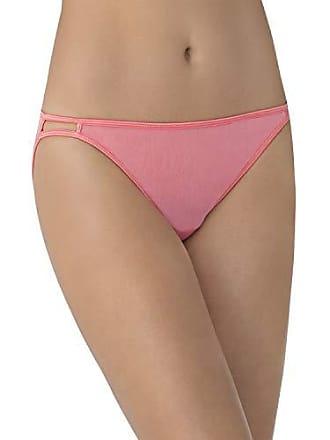 Vanity Fair Womens Illumination Body Shine String Bikini Panty 18108, Bittersweet, Large/7