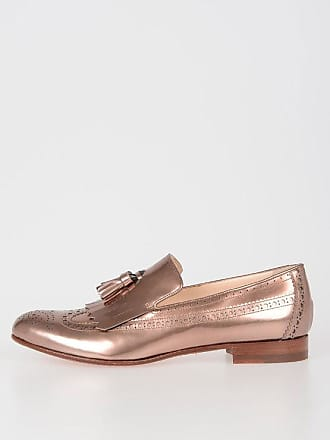 ab3a8cadc97 Santoni Leather Bronze Loafer size 35