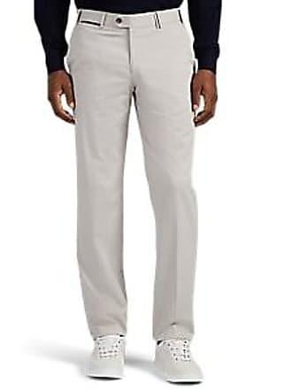 Hiltl Mens Cotton Twill Modern-Fit Trousers - Gray Size 31
