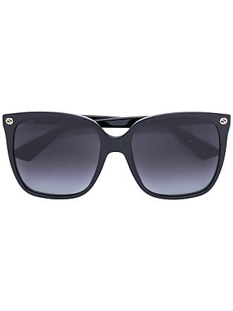 Gucci Óculos de sol oversized degradê - Preto