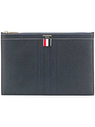 Thom Browne small zipped tablet holder - Blue