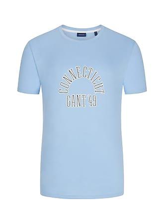 a2123e2967076 GANT Übergröße : Gant, T-Shirt mit Logo-Schriftzug in Hellblau für Herren